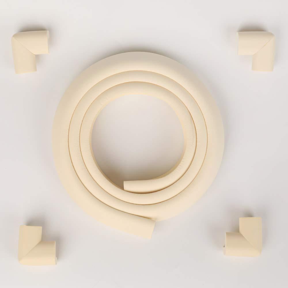Nordico Namo Premium Baby Edge Corner Guard Safety Edge & Corner Cushion Safety Furniture Bumper (01_Ivory)