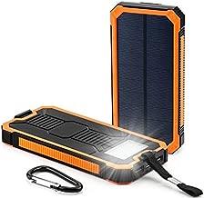 Waterproof 300000mAh Portable Solar Charger Dual USB Battery Power Bank RT Phone