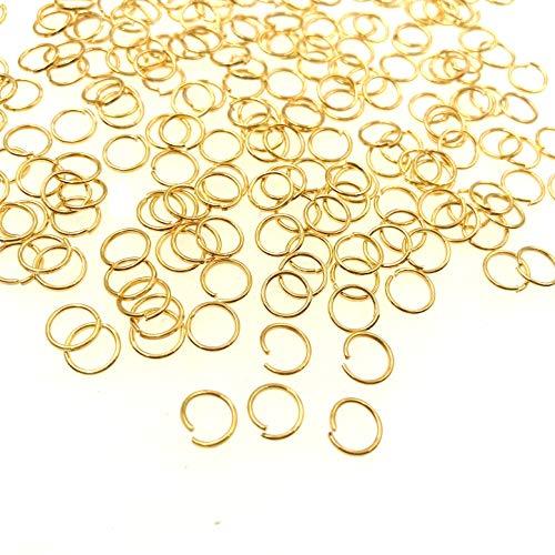 JZK Set 1000 PCS 6mm Anelli Aperti Oro per bigiotteria Fai da Te, anellini Aperti per Orecchini Fai da Te Kit per creazione di Gioielli di Braccialetti collane Portachiavi