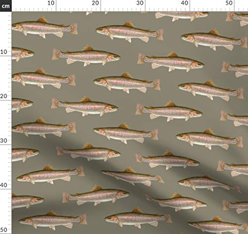 Angeln, Fisch, Forelle, Wisconsin Stoffe - Individuell Bedruckt von Spoonflower - Design von Weavingmajor Gedruckt auf Baumwoll Spandex Jersey