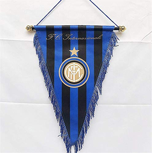 MCLAOSI Football Club Pennant Indoor and Outdoor Flags Vivid Color Hanging Flags Decor for Bedroom/Club/Bar/Event/Fan Merchandise Soccer (Inter Milan)