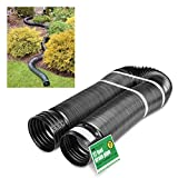 Solid Corrugated Expandable Flexible Landscape Drain Pipe, 4-in. by...