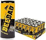 BEEBAD Energy Drink, Bebida Energética Saludable Hecha de Ingredientes Naturales y Endulzada 100% con Miel de Abeja Pura (Pack de 24 Latas de 250 ml)