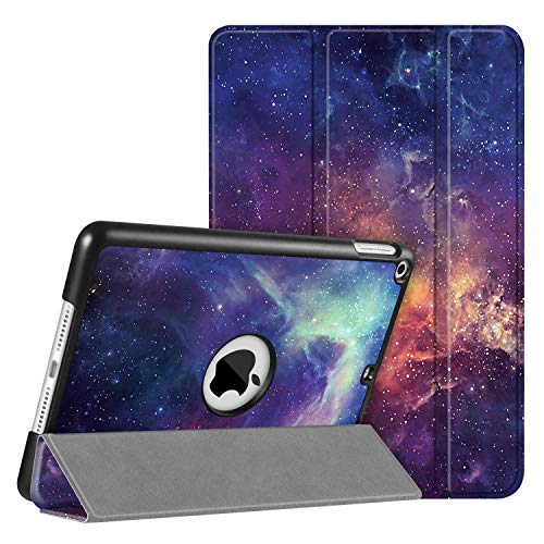 FINTIE SlimShell Case for iPad mini 5 5th Generation 2019 - Super Thin Lightweight Stand Protective Cover with Auto Sleep/Wake Feature, Galaxy