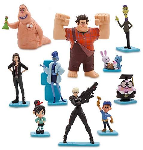 Disney Set 10 Personaggi PVC Ralph SPACCATUTTO Anche Decorazione Torte