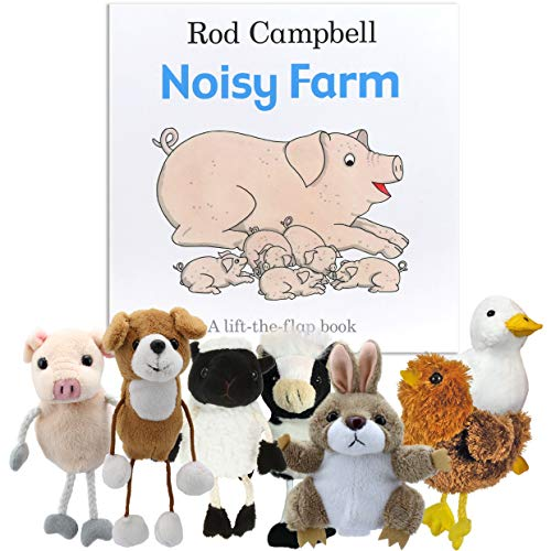 Noisy Ferme livre avec marionnettes de doigt