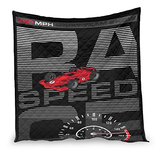 IOVEQG Edredón suave Racing Sport ligero para dormir para un mejor sueño blanco 150 x 200 cm