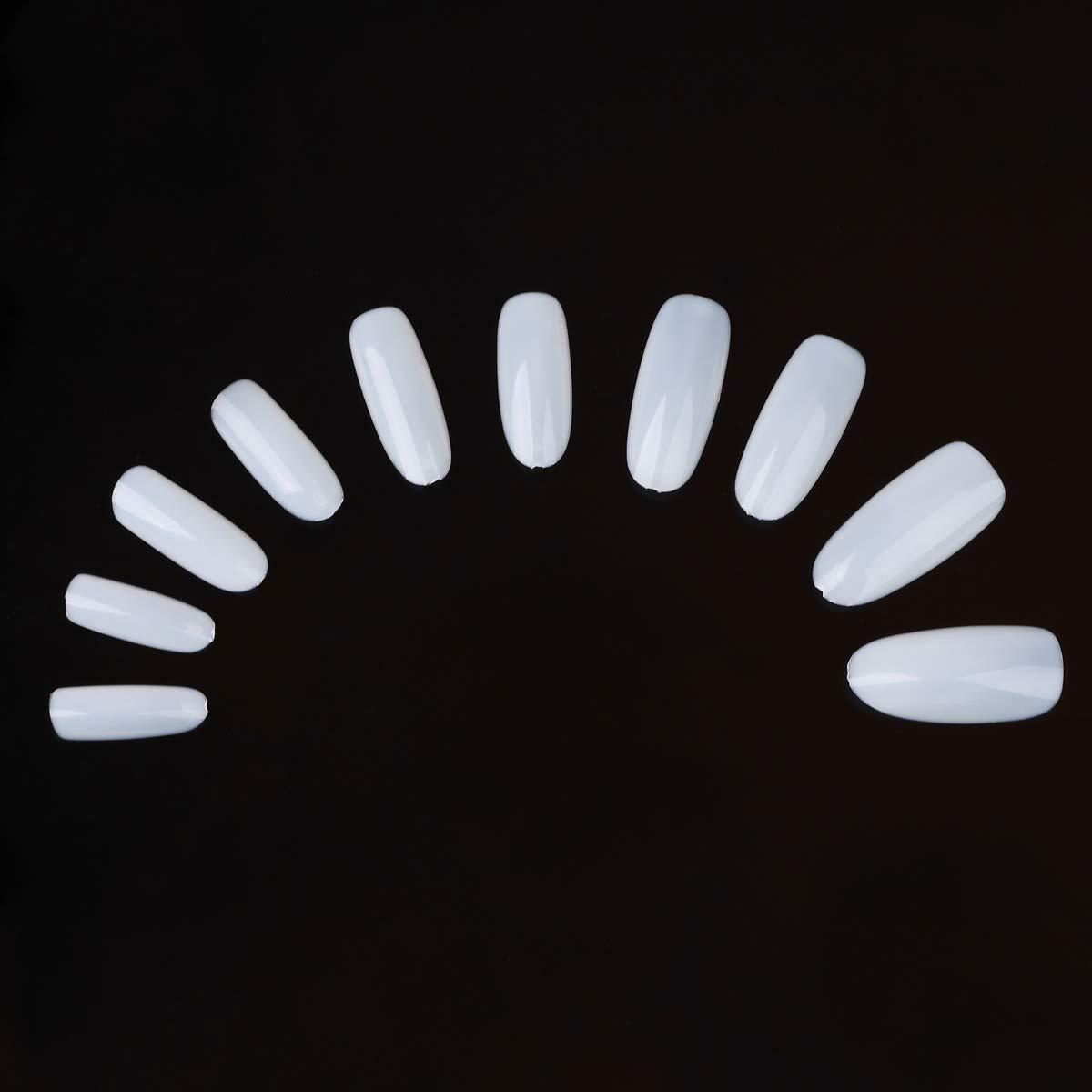 500Pcs Natural French False 5 ☆ very popular Nails UV Acrylic Gel Tips Nail Long-awaited Artif