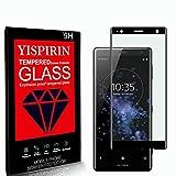 YISPIRIN [2 Piezas] Cristal Templado para Sony Xperia XZ2 Premium, [Dureza 9H, Anti-Rasguño, 3D Cobertura Completa] Fácil de instalar, Protector de Pantalla para Sony Xperia XZ2 Premium
