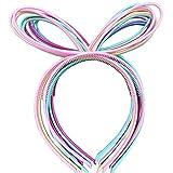 XIMA 12 diademas de plástico con orejas de conejo para niñas, diademas de conejo, diademas para el...