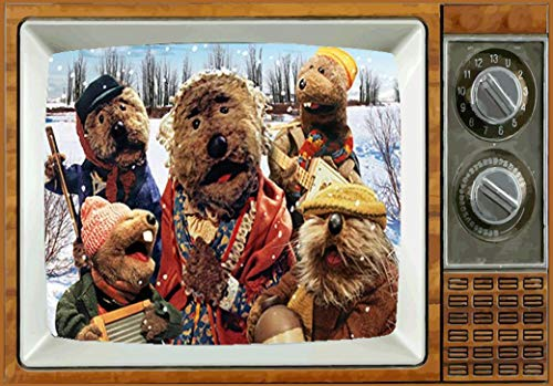 Emmet Otters Jug-Band Christmas TV Fridge MAGNET 2' x 3' art SATURDAY MORNING CARTOONS Refrigerator nostalgic retro Christmas