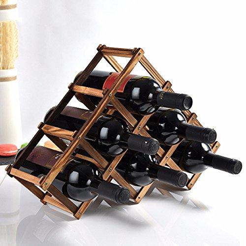 Amadoierly Décoration en Bois casier à vins en Bois de pin Bois créative de présentoir en Bois Protection de l'environnement pour créer de Petites Bouteilles fraîches 6,B