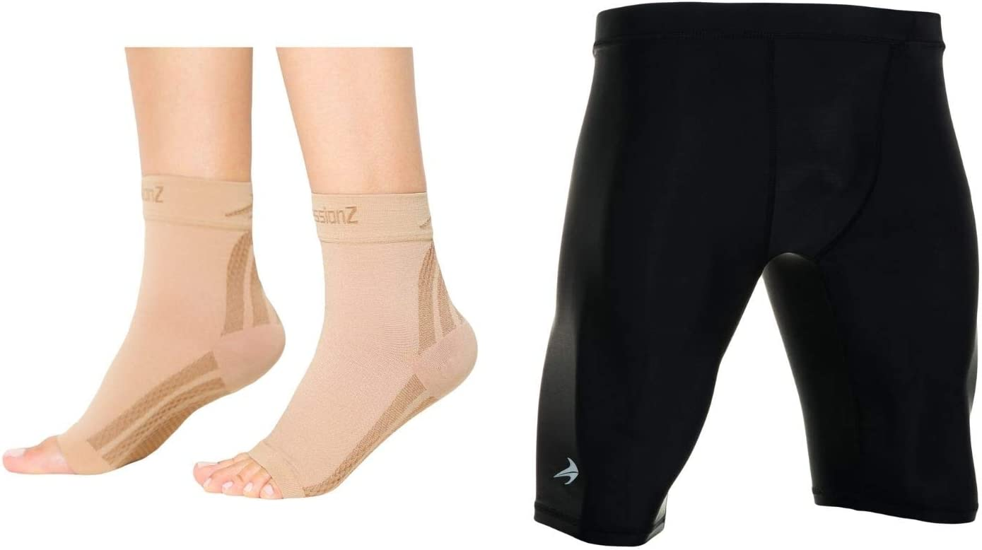 CompressionZ Compression Raleigh Mall Foot Shorts Sleeves 2021 model Men's