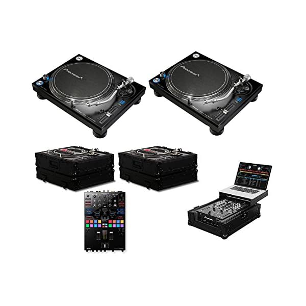 2x Pioneer PLX-1000 + DJM-S9 + Black Label Cases + Glide Style Case