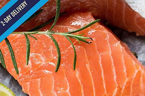 Ocean's Finest Seafood - Atlantic Salmon Fillets - Natural Premium Skin-On, 6oz / 12 portions (4.5lb)