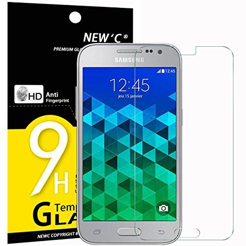 NEW'C Lot de 3, Verre Trempé pour Samsung Galaxy Core Prime, Film Protection écran - Anti Rayures - sans Bulles d'air -Ultra Résistant (0,33mm HD Ultra Transparent) Dureté 9H Glass