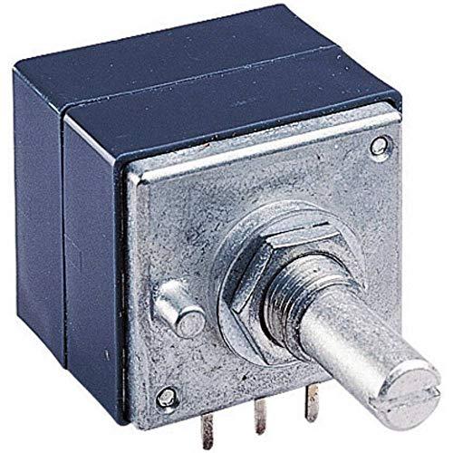ALPS RK27112 100KBX2CC Dreh-Potentiometer staubdicht, mit Mittelrasterung Stereo 0.05 W 100 kΩ 1 St.