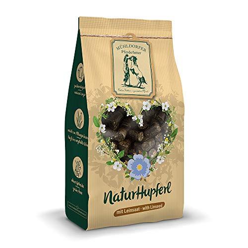 Mühldorfer NaturHupferl Leinsaat, 1 kg, naturgesunde Leckerli für Pferde, getreidefrei, ohne Melasse und Zusatzstoffe, zucker- und stärkereduziert