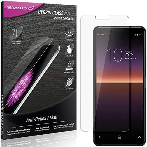 SWIDO Panzerglas Schutzfolie kompatibel mit Sony Xperia 10 II Bildschirmschutz Folie & Glas = biegsames HYBRIDGLAS, splitterfrei, MATT, Anti-Reflex - entspiegelnd