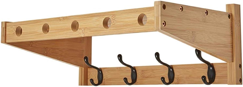 Feifei Coat Rack Creative Wall-Mounted Living Room Bedroom Multi-Function Multi-Hook Bamboo Hanger, 3 Sizes (Size   52.5cm)