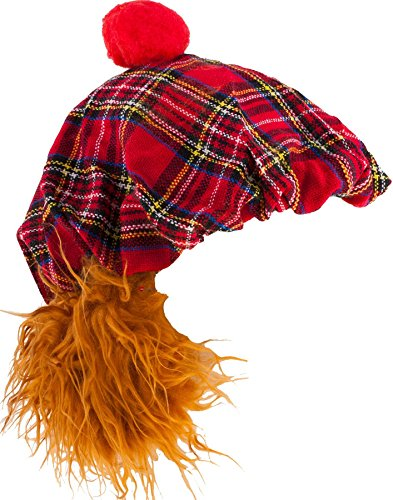 I Luv Ltd See You Jimmy Fun Hat in Royal Stewart Red Tartan