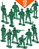 """GiftExpress 12 pcs 5"""" Green Army Action Figures, US Army Men Military Solider Set, Soldiers Toy Figures, Military Figure Collection"""