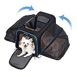 YOUTHINK Transportín Plegable para Perros, Portador de Viaje para Mascotas, Portador de Lado Suave con Almohadillas de Lana extraíbles, Adecuado para Perros o Gatos pequeños(73 * 45 * 28 cm)