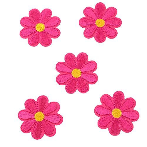 CanVivi Aufbügelbilder Blumen Set Patches Aufnäher Applikationen,Rose