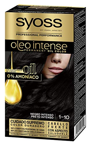 SYOSS - Oleo Intense Coloración Permanente Sin Amoníaco - Tono 1-10 Negro...