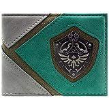 Cartera de Legend of Zelda Link Silueta y Escudo Verde