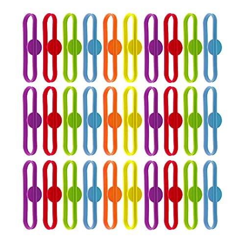 Yageartbtfed Marca Vasos 30 Piezas Identificador de Vasos Marca Copas Marcador Vasos Silicona Etiquetas de Bebida Bebidas Marcador de Copas Marcador de Vidrio Silicona para Cena Familiar Bar,6 Colores
