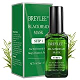 Blackhead Remover Mask, BREYLEE Tea Tree Oil Blackhead Pore Strips Mask Blackhead Removal Strpis Nose Strips Peeling Mask Deep Cleansing(17mL, 0.6 fl oz) (With 100 Pcs Strip Paper)