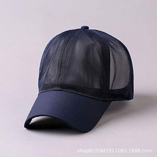 Netto Hut Männer Hut weiblich Sommer Sonnenhut Kappe lässig Baseball Cap Größe Kappe blau Normale Nummer (56-59)