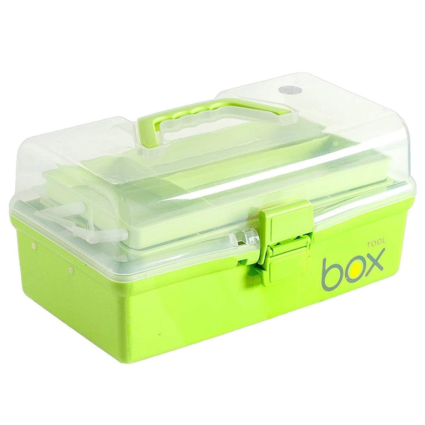 民主党レガシー昇進HTDZDX 応急処置キット収納ボックス、家庭用ポータブルピル薬医療収納ボックスオーガナイザー、旅行、キャンプ、オフィス (Color : Green)