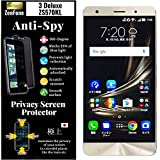 Agrado ZenFone 3 Deluxe ZS570KL [4way 360 Anti-Spy] Privacy Screen Protector [Bloque 53% of Blue Light] Smooth Touch, Anti-Glare