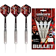 STEEL TIP - Dart Set **Barrel Design A** SIZE - Each barrel weight: 24 g. Packaging 19.5 x 11.3 x 1.7 cm GARY ANDERSON - The 'Flying Scotsman' has repeatedly been named alongside the elite dart players to have ever played the game thanks to his incre...