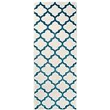 Carpeto Rugs Teppich Läufer Flur - Orientalisch Teppichläufer - Kurzflor, Weich - Flurläufer für Wohnzimmer, Schlafzimmer - Teppiche - Meterware - Türkis - 70 x 150 cm
