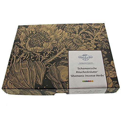 Schamanische Räucherkräuter - Samen-Geschenkset mit 4 duftenden, wohltuenden Pflanzensorten zum Räuchern