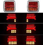 KIT 2 PILOTOS LED NEON TRASERO REMOLQUE 3 FUNCIONES 12V 24V HOMOLOGADOS PARA ITV