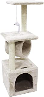 CUPETS Kitten Tree Cat Climber with Scratching Post,Activity Tree Pet Furniture Pet Products for Cats and Kittens