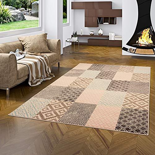 Passion - Alfombra de Diseño - diseño de Patchwork Pastell Rosa - 5 tamaños