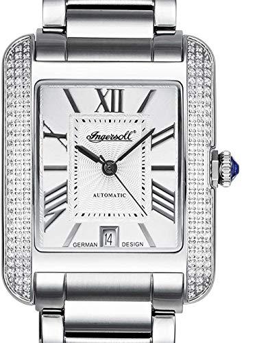 Ingersoll Reloj Analógico para Mujer de Automático con Correa en Acero Inoxidable IN1715SL