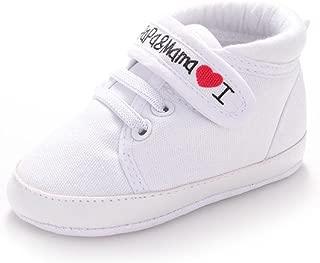 Fullkang Unisex Baby I Love Papa & Mama Soft Sole Canvas Sneaker Shoes
