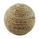 Pelota de hierba marina natural, pelota de actividad de animales pequeños, juguetes divertidos para masticar Pelota de hierba tejida natural, para conejos, cerdos, pájaros y otras mascotas pequeñas