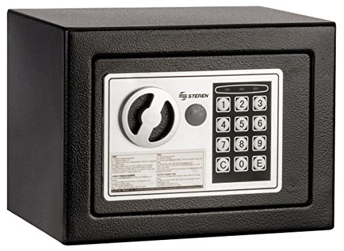 Steren SEG-475 Mini Caja Fuerte Electronica de Alta Seguridad