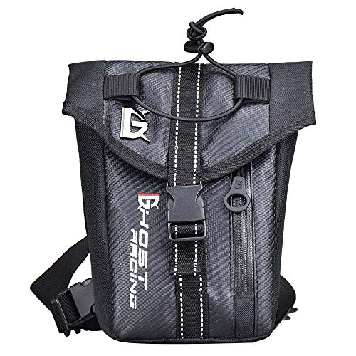 DC Wesley Motorcycle Multi-function Riding Waterproof Knight Legs Outdoor Sports Bag Mobility Package Motorcycle Waist Bag Knight Pack (Black)