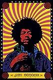 Pyramid America Jimi Hendrix Psychedelic Music Cool Wall Decor Art Print Poster 12x18