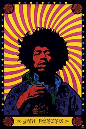 Pyramid America Jimi Hendrix Psychedelic Rock and Roll Electric Guitarist Singer Songwriter Music Cool Wall Decor Art Print Poster 24x36