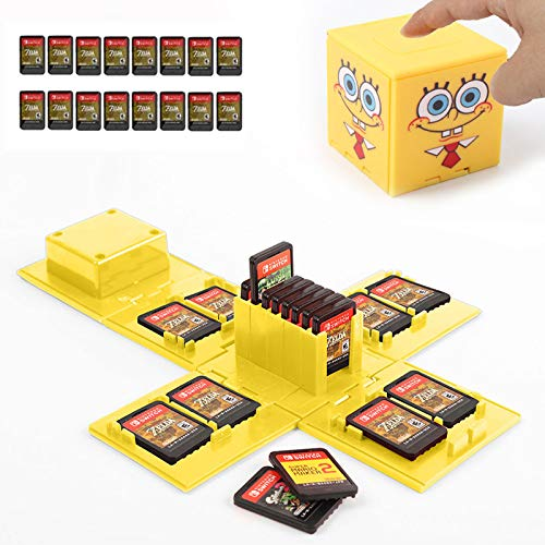 Étui pour cartes de jeu Nintendo Switch - 16 emplacements - Jaune - Bob l'éponge