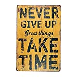 LPLED Metal Painting Never give up Great...